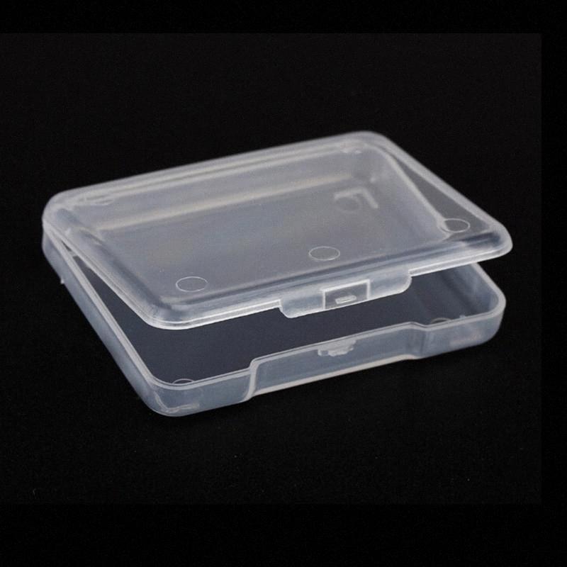 5PCS Sammlung Behälter-Kasten Schmuck Finishing-Zubehör Kunststoff Transparent Kleine Frei Speicherkasten mit Deckel Aufbewahrungsbox x1fX #