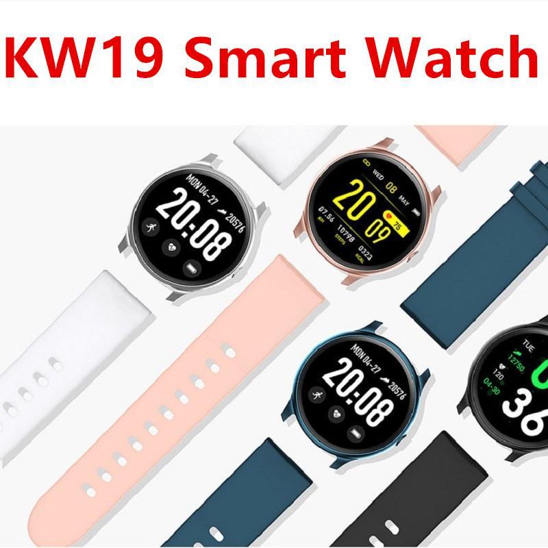 KW19 Smart Watch Fitness Tracker Bracelet Heart Rate Monitoring Sports Smart Bracelet Waterproof Touch Screen SmartBracelet