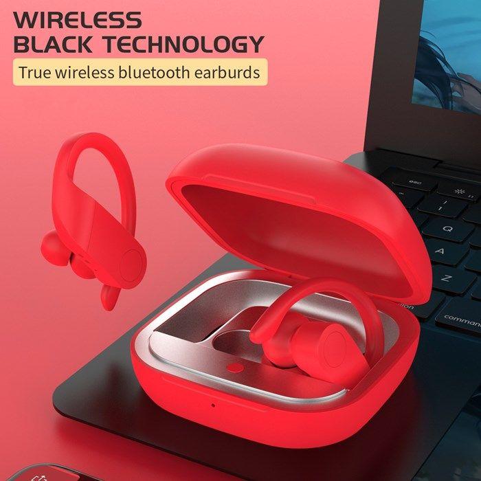 Ушная крючка TWS Беспроводной Bluetooth 5.0 Наушники для смартфонов Спорт Модные наушники с зарядкой