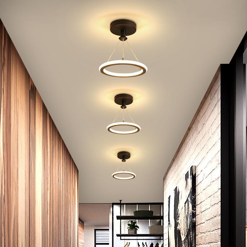 Żyrandol LED w korytarzu Mała lampa sufitowa do korytarza korytarza Wejście Wejście domu Nowoczesne żyrandole Oświetlenie oprawa