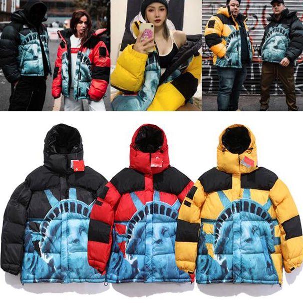 Kadın Erkek Aşağı Parkas Kış Giyim Rahat Ceket Sıcak Ceket Unisex Ceket Dış Giyim Hip Hop Erkekler Streetwear X6102