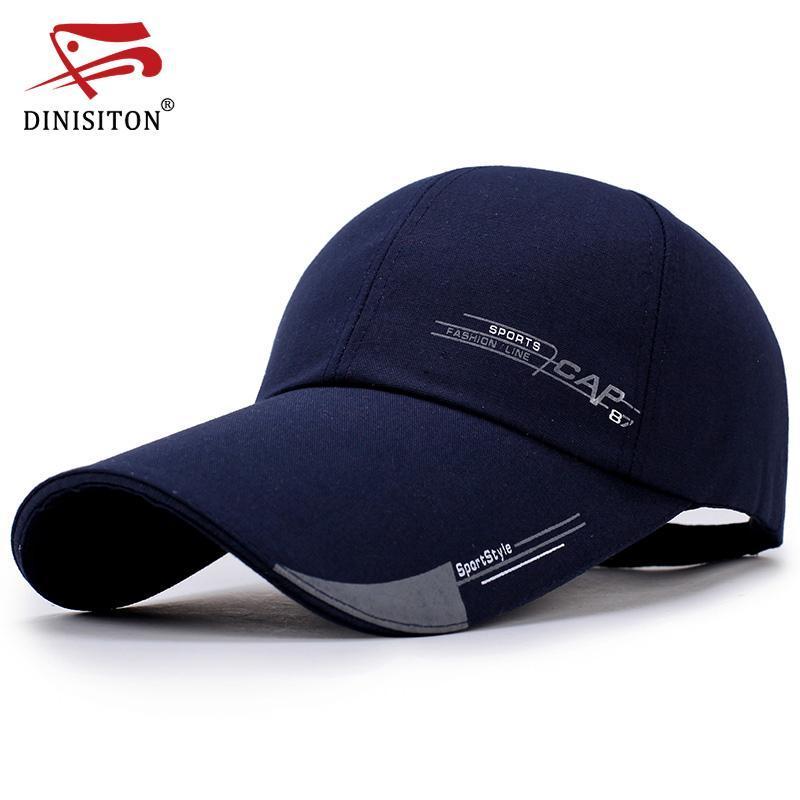 DINISITON 2020 Nouveau unisexe Été Homme Casquette de baseball Hommes Femmes Quick Caps Hat Bone Dry Homme ESCALADE Sport Chapeaux CLP
