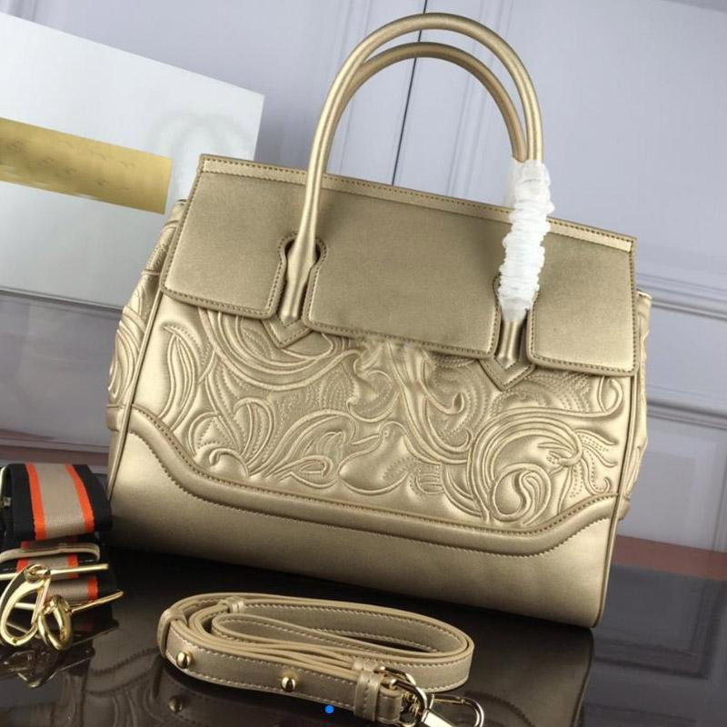 Top Quality Women luxurys Handbag Embossed Flower Genuine Leather Lady Tote Bag Designers Large Capacity Package shopper Bag Shoulder Bag