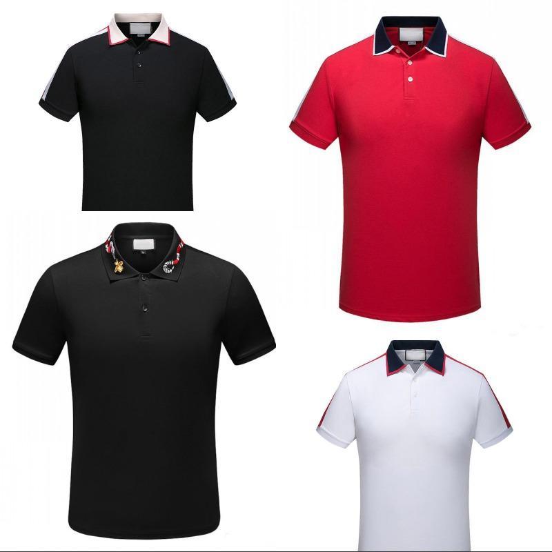 2021 Mens Roupas Tees Designer Pólos Marca Bordado Vestuário Homens Tecido Letra Polo Camiseta Colarinho T-shirt Casual Camiseta Tops
