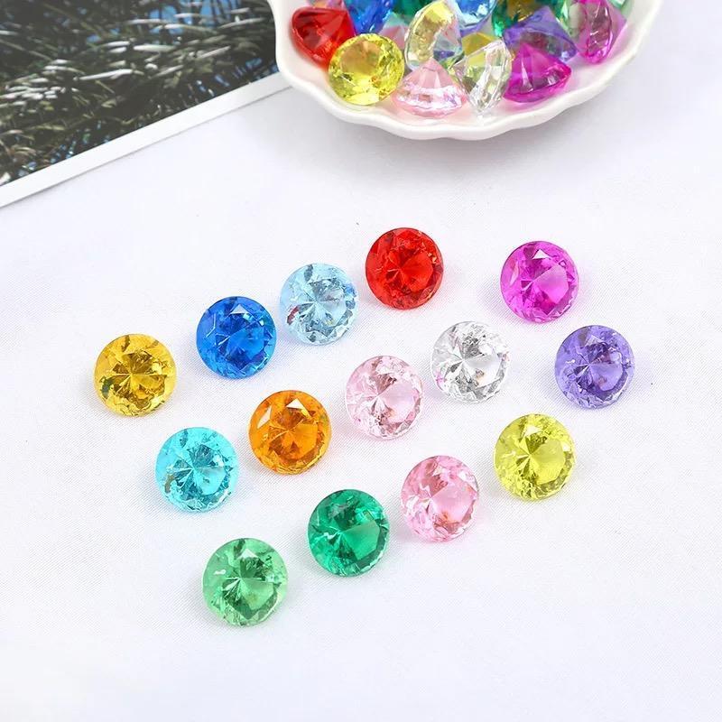 20mm Sahte Elmas Jewels Hazine Sandığı Korsan Akrilik Kristal Taşlar Dolgu Oyuncaklar Dikmeler Parti Favor Konfeti Düğün Süsleme