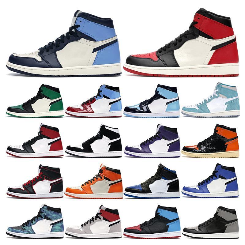 air retro jordan 1s  Laufschuhe für Männer Triple Black weiß kaum Rose University Red Mint Green Grape Tiger Damen Sport Sneaker Trainer Schuhe Größe 36-45