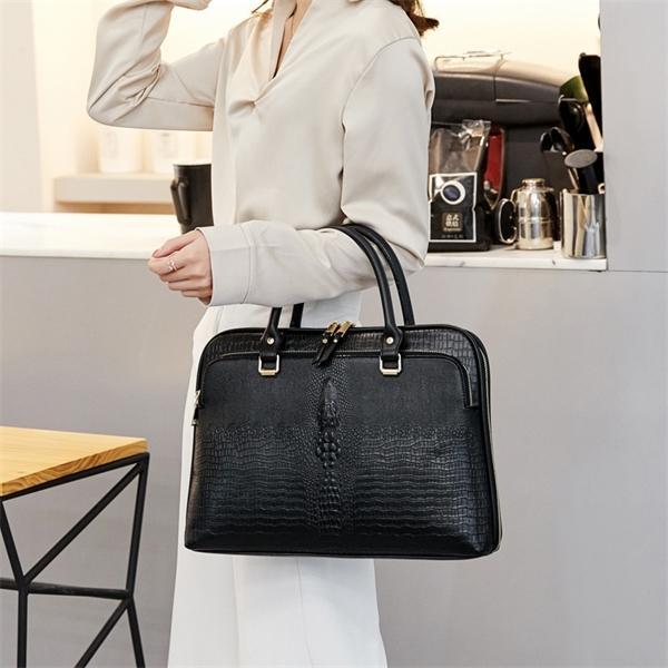 Business Women's Briefcase Bag Woman Leather Laptop Handbag Work Office Ladies Crossbody Bags For Women Handbags Computer 14inch Q1104