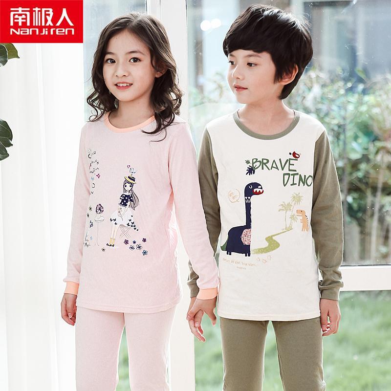 Nanjiren crianças pijamas meninas meninos 100% algodão listrado Sleepwear Roupa de bebê roupas de bebê 4 ~ 18t pijama define pijama infantil 201104