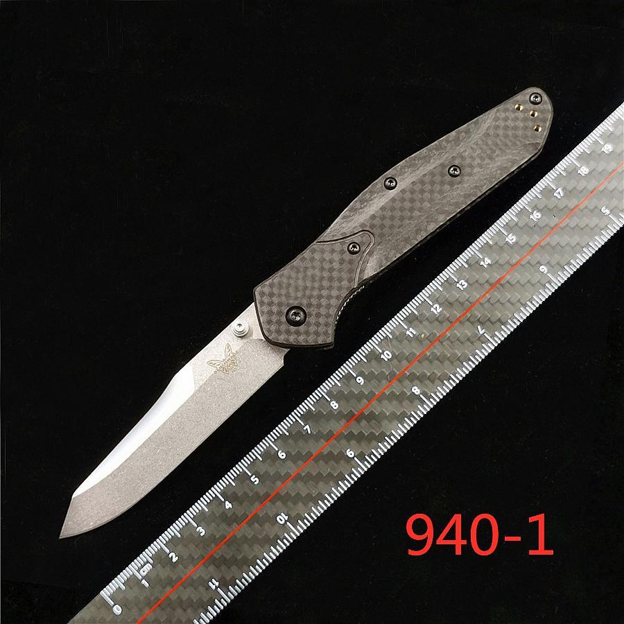벤치 메이드 BM940 BM 940-1 오스본 접는 나이프 S90V 블레이드, 탄소 섬유 핸들 야외 캠핑 BM943 BM781 BM485 BM42 BM62 C81 접는 칼