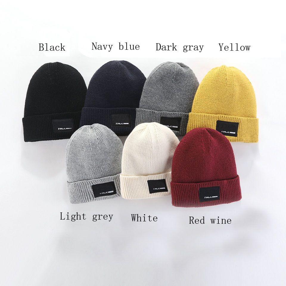 2020 Mode Mützen Tn Marke Männer Herbst Winter Hüte Sport Strick Hut Verdicken Warme Casual Outdoor Hat Cap doppelseitige Beanie-Schädelkappen