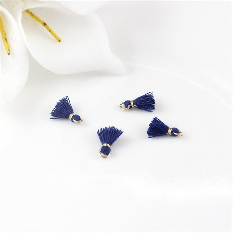 30pcs 1cm Cotton Thread Mini Metal Hanging Ring Tassel Trim Pendant Diy Craft Arts Jewelry Earrings Decor Materials Fringe Trim H jllBPZ