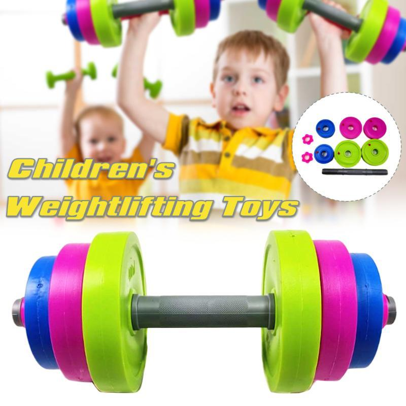 1 Set Pratico Bambini Bilanciere Bodybuilding Attrezzature per esercizio Attrezzatura Braccio Muscolo Fitness per bambini Palestra e casa