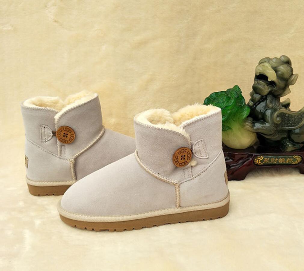 Clássico three352 Um grão de crianças populares fivela aquecer respirável 100% botas de couro de neve menino e menina curtas botas bz023 tubo infantis