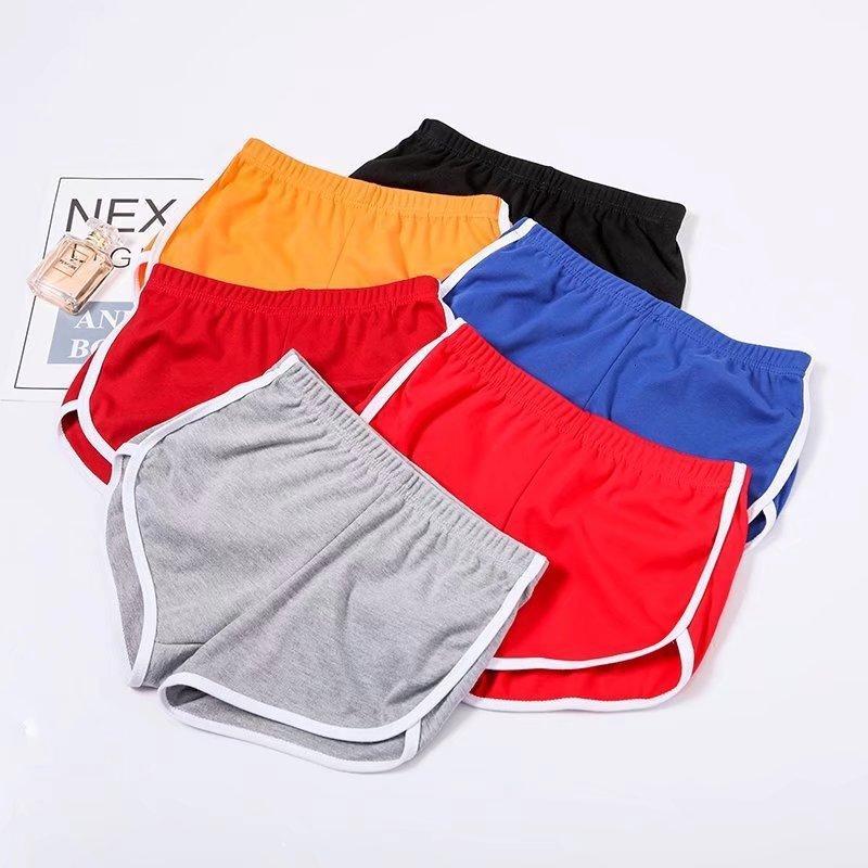 Été Sports Shorts Wear Femme Taille haute Love Impression de la jambe large Yoga Pantalon chaud