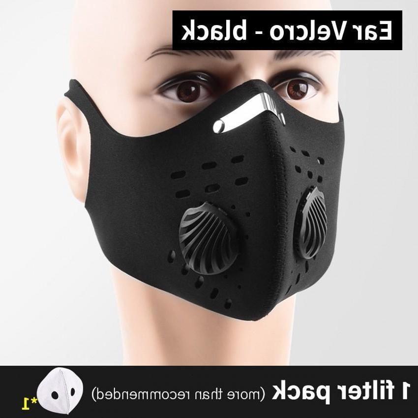 11 Face 2 21 Sport 5 Masque 10 avec l'ensemble du filtre au charbon activé Pm 25 Pollution en cours de formation Facemask Vtt DHL