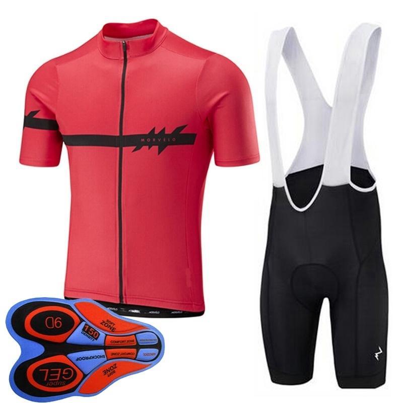 Estate Uomini Ciclismo Jersey uniforme soddisfare Morvelo squadra di alta qualità biciclette asciutto rapido respirabile manica corta Road Bike Abbigliamento Y090304