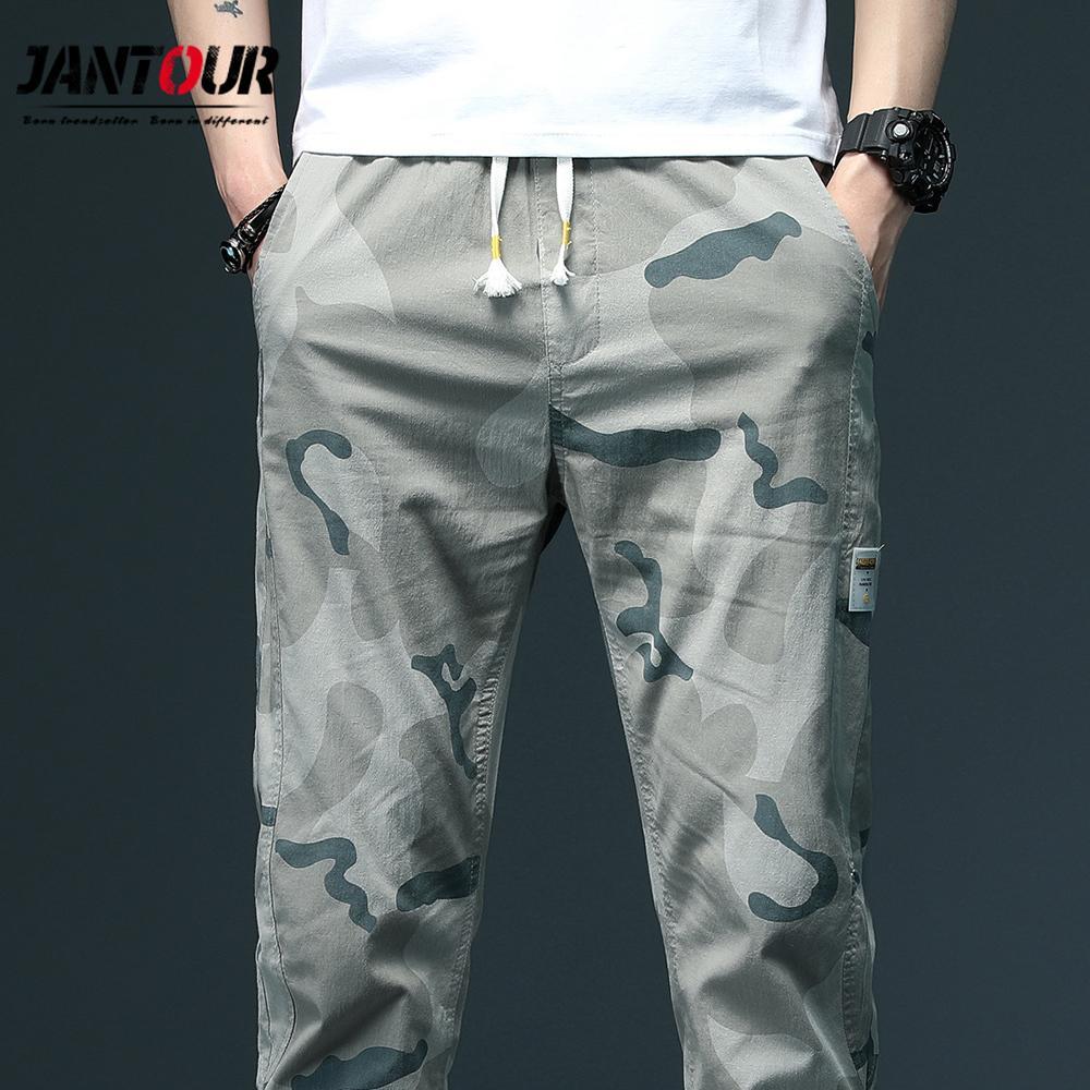 Camuffamento militare Jogger Pantaloni Uomo 98% cotone da uomo Primavera Autunno Matita Pantaloni harem degli uomini comodi pantaloni Camo Joggers XXXL C1018
