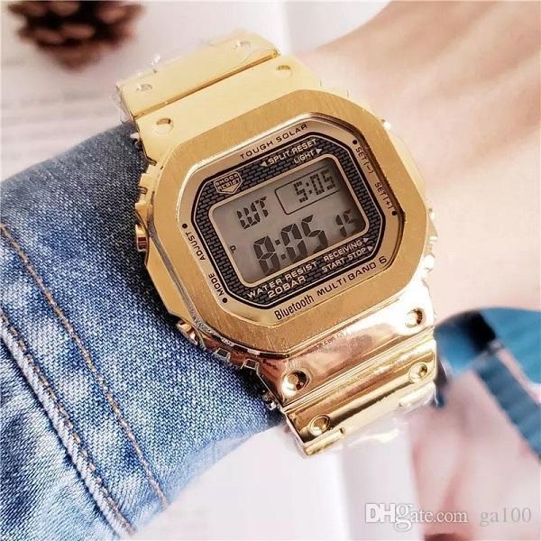 Gorąca sprzedaż Casual Fashion LED Digital Men's Watch Iced Out Watch GMW-B5000 Wszystkie funkcje można obsługiwać