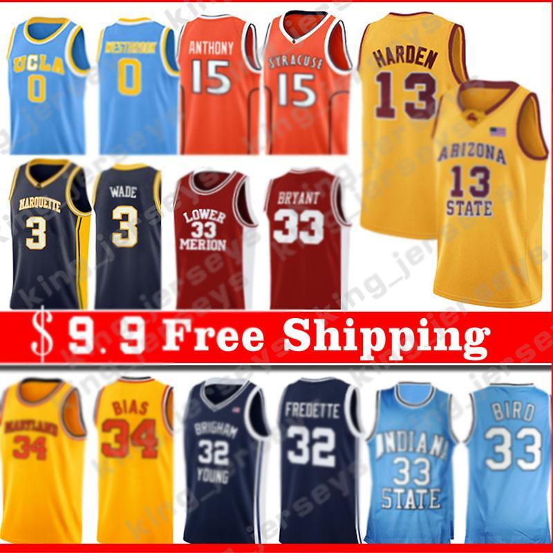 Z5 Hommes Iverson NCAA 21 Joel 25 Ben Embiid Simmons Jeune 11 Trae 14 Tyler 0 Jayson Herro Tatum College Basketball Jerseys