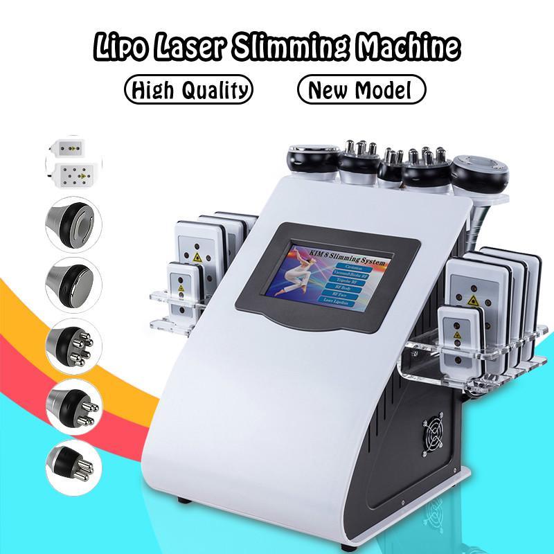 40K beauty weight loss instrument ultrasonic liposuction cavitation 8 pad laser vacuum RF skin care salon beauty equipment