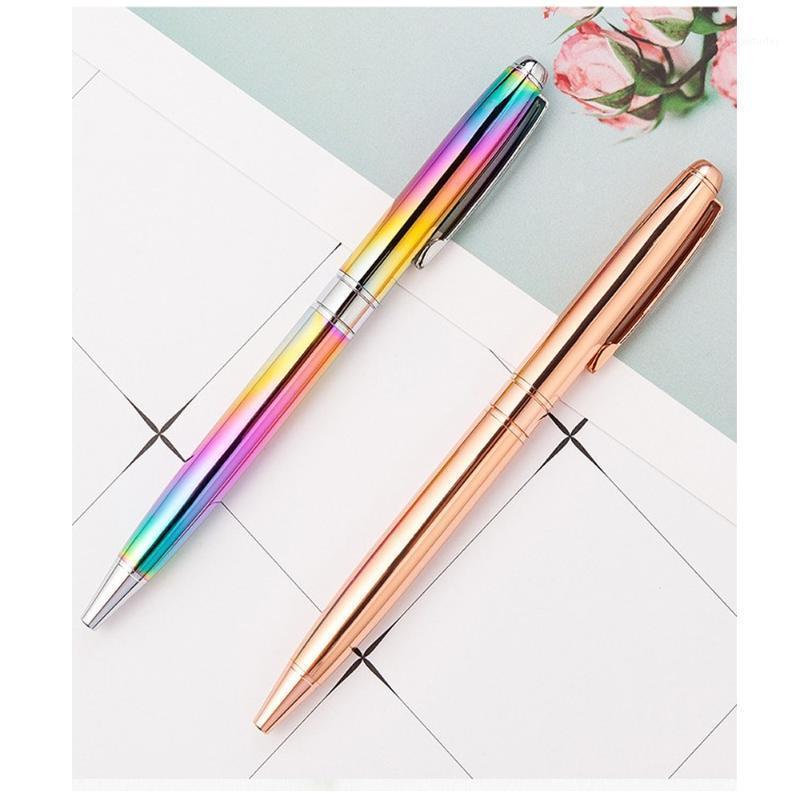 القلم المعدني القلم قابل للسحب الكرة الأقلام 1.0 ملليمتر الحبر الأسود توقيع الزفاف الأقلام هدية عيد الميلاد القرطاسية مكتب المدارس