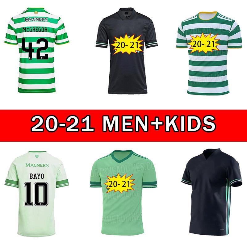 2021 Celtic FC Soccer Jerseys Edouard 2020 2021 Brown Forrest Christie Football Shirt Griffiths Celtic 3rd McGregor Men + Kids Kit uniformes