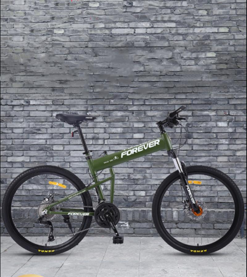 Şangay zaman katlanır Dağ bisikleti erkek değişken hızlı Dağ bisikleti hafif taşınabilir çift şok emici yetişkin dişi öğrenci