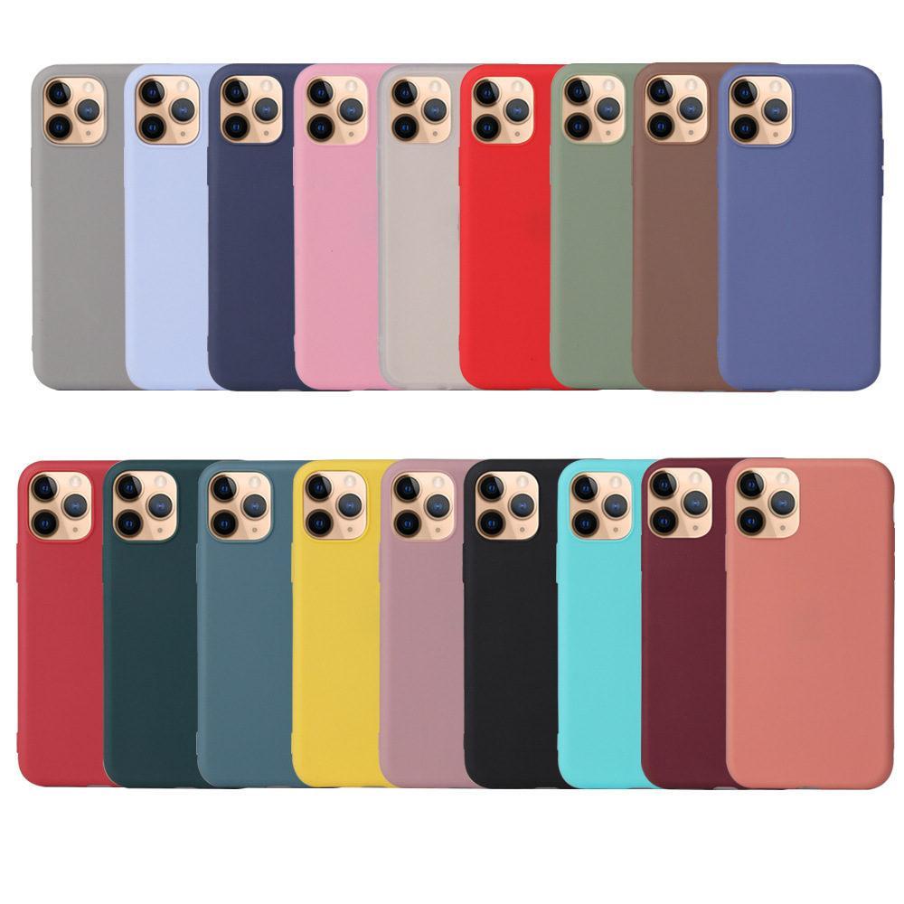 Neue Telefon-Kästen für Apple iphone12 Pro Mini Silikon Fällen Matte Handy-Zubehör Telefon-Schutz