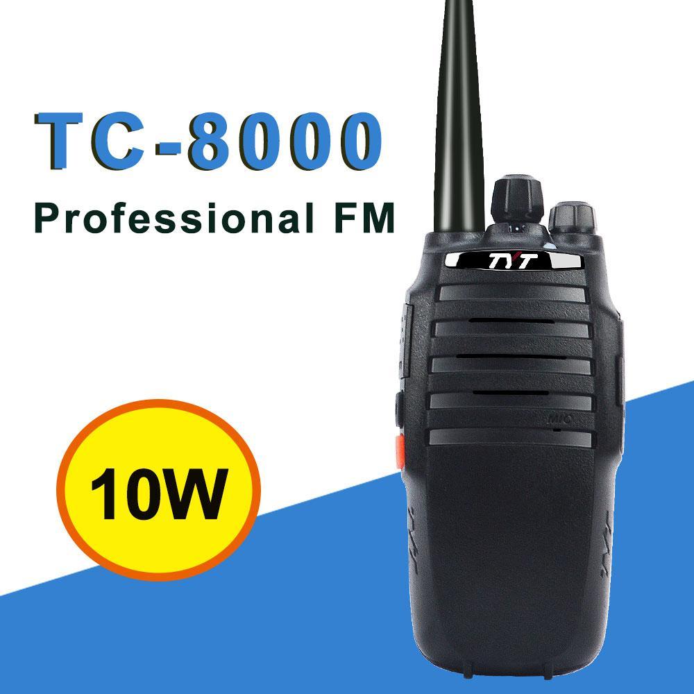 10W walkie talkie TYT TC-8000 3600mAh 10 km portátil rádio bidirecional única banda VHF 134-174 ou UHF 400-520MHz