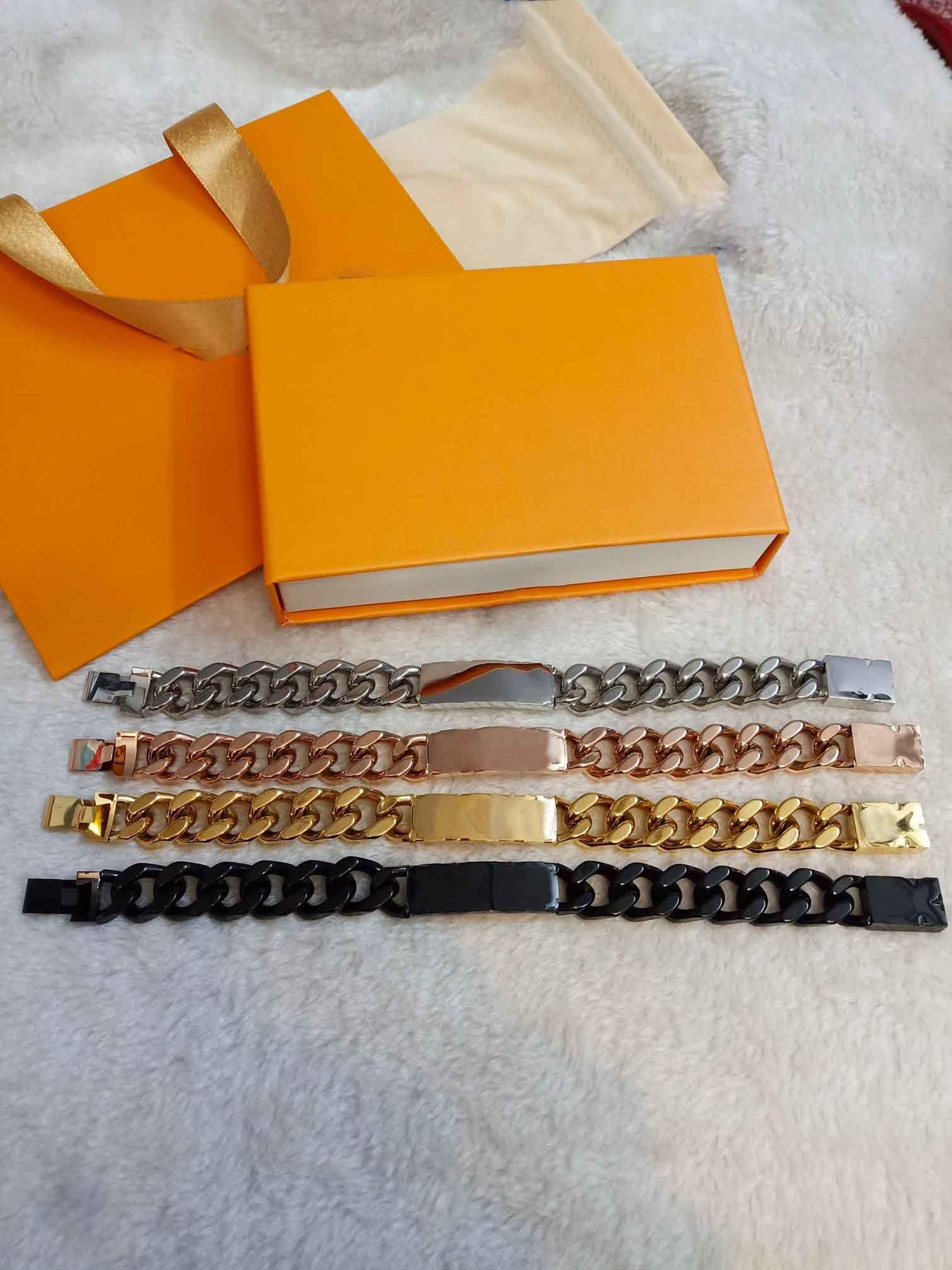 22 centímetros Últimas punk rock pulseira masculina Grosso pesado ouro Titanium Aço Cuba Fashion Trend grande da cara Grosso Largo Jóias