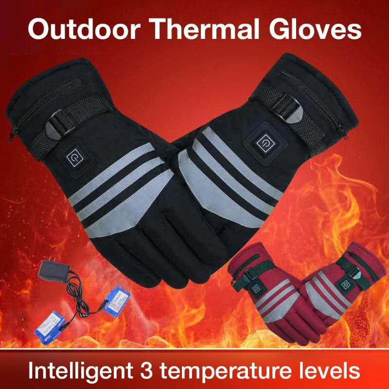 Heated Gloves 7.4V Rechargeable Battery Powered Electric Heated Hand Warmer for Hunting Fishing Skiing Cycling