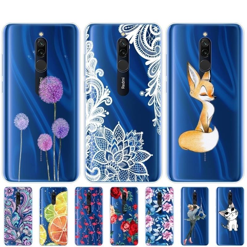 CILICON CASE для Xiaomi Cass Full Protection Мягкий TPU Задняя крышка на Redmi Bumper Hongmi 8 Phone Shell Bag Coque