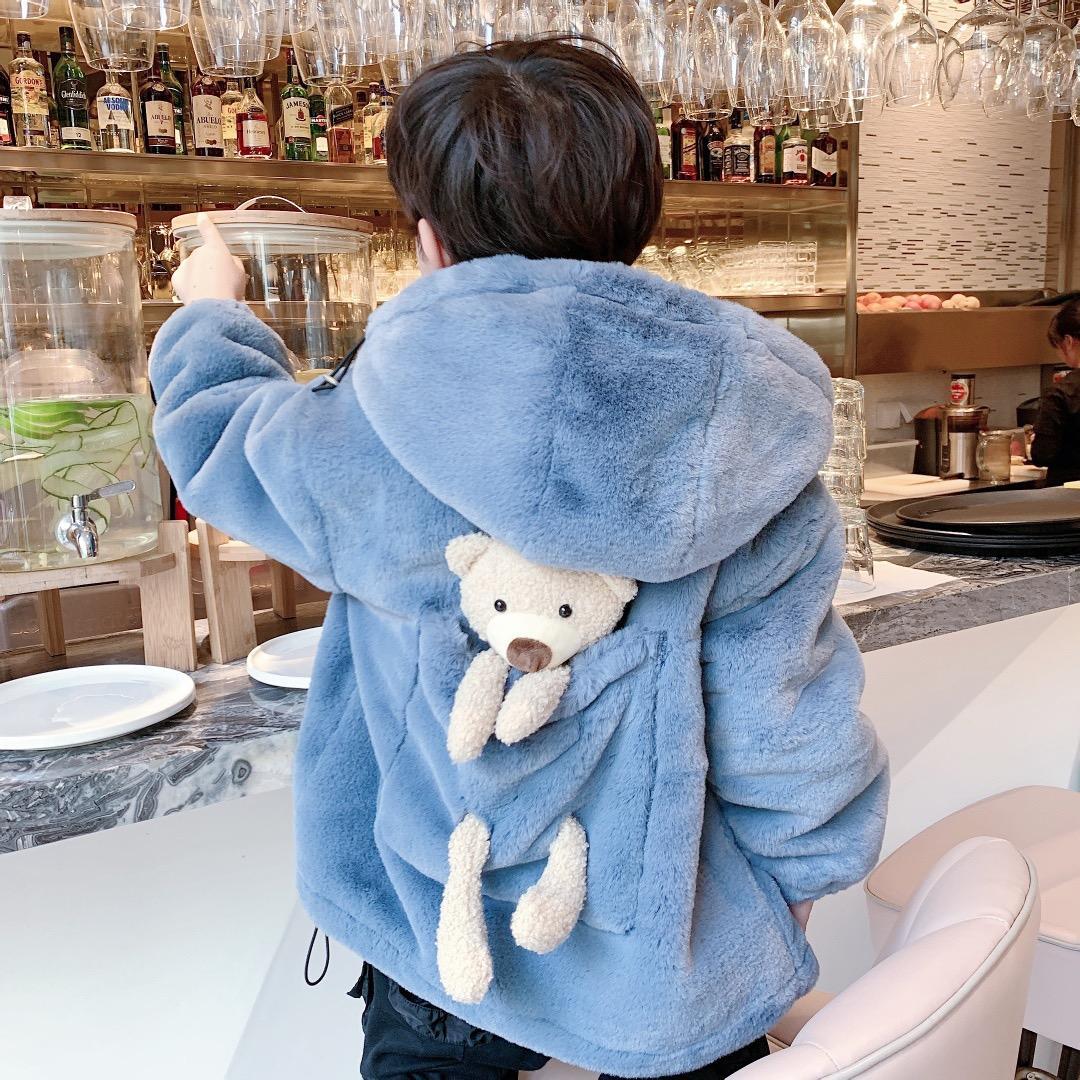 Новые зимние Детские флисовые толстовки Для девочек Для мальчиков Симпатичные теплая куртка с капюшоном Toddle младенца Zipper пальто
