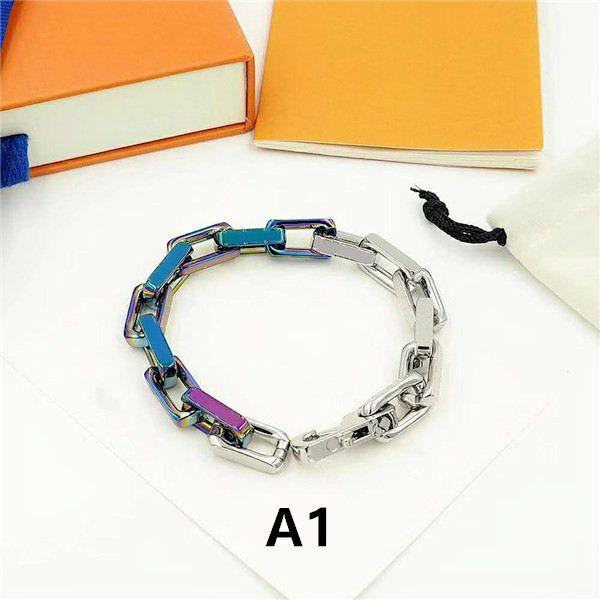 Braccialetti di modo del braccialetto del braccialetto del braccialetto di modo per i monili delle donne dell'uomo Braccialetto regolabile della catena del braccialetto di modo 5 Modello opzionale