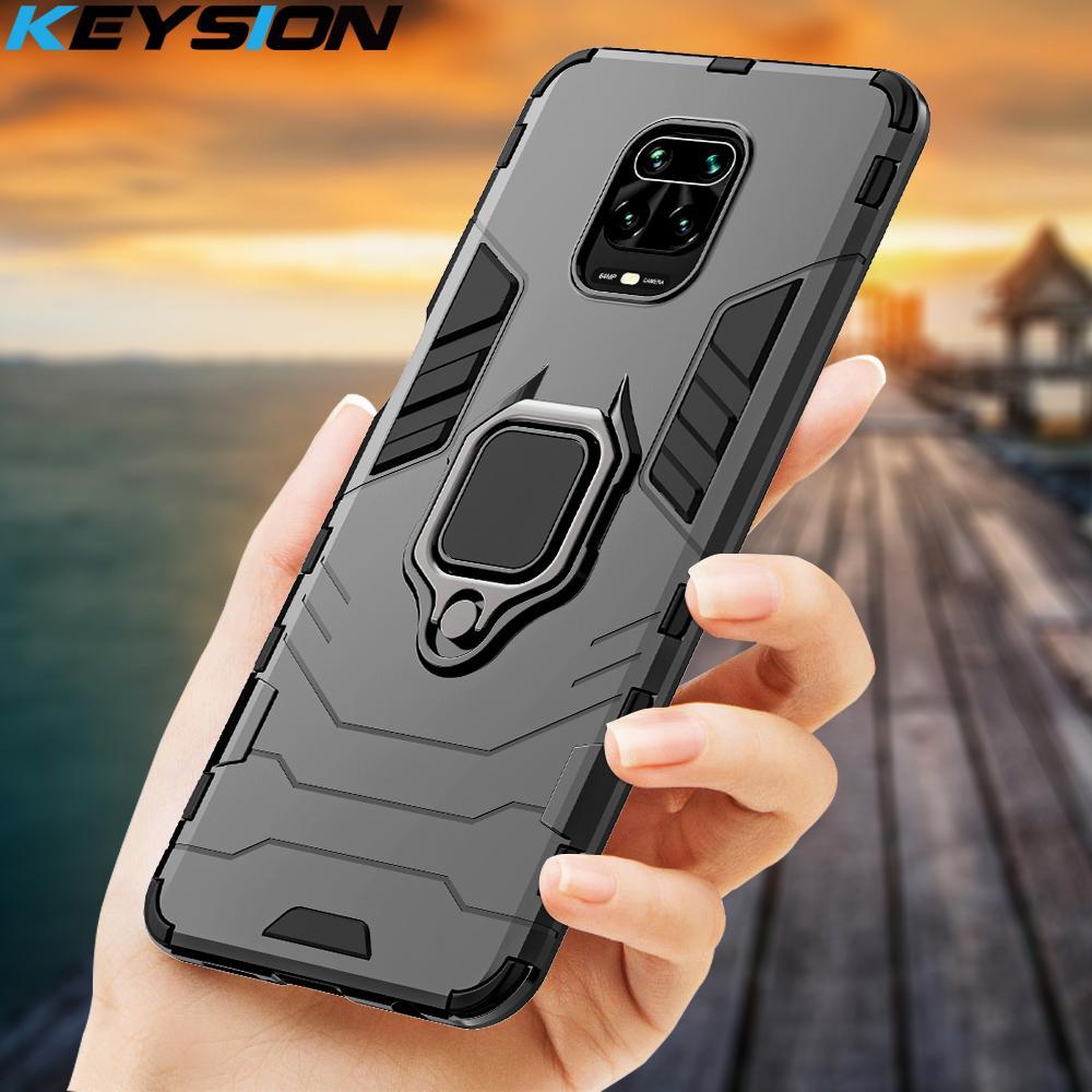 KEYSION caso à prova de choque para redmi Nota 9s 9 Pro Max 9A 9C 8 Pro 7 A K20 tampa do telefone para Xiaomi Mi 10 Lite T9 Nota 10 POCO F2 Pro