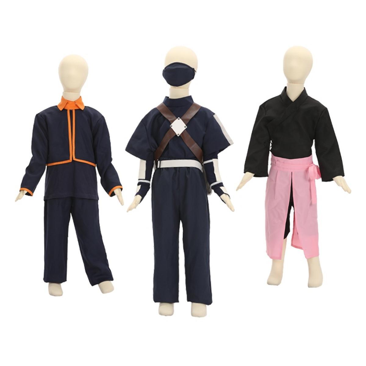 2020 Unisex Cadılar Bayramı Çocuklar Naruto Japonya Anime Uchiha Obito Üniforma Hatake Kakashi Cosplay Kostüm Takım