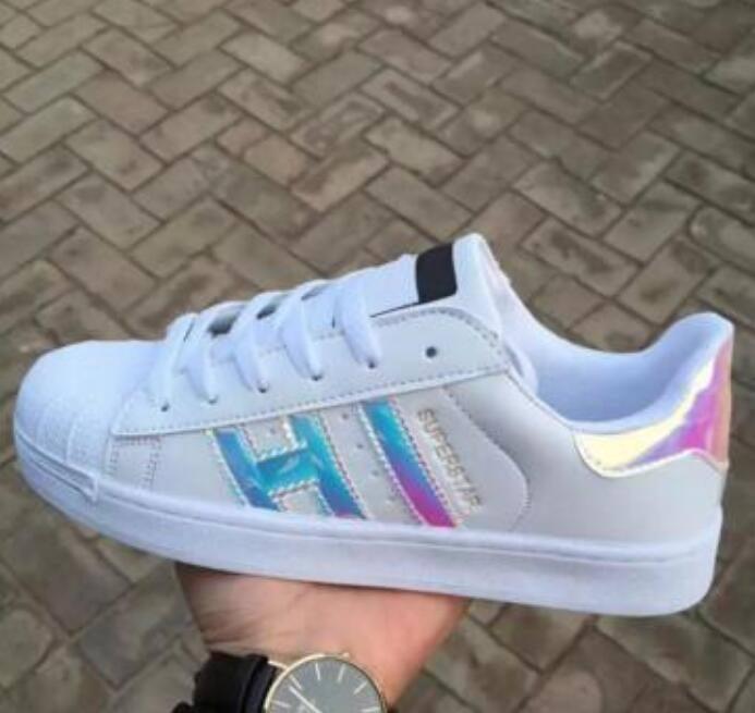 Hot 2017 Moda uomo scarpe casual superstar smith san san smith scarpe piatte femminili donne zapatillas deportivas mujer amanti sapatos femininos per uomo