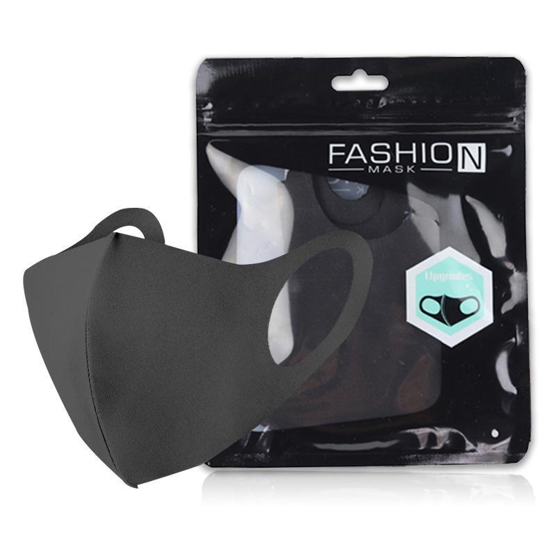 Alta qualidade à prova de vento e poeira Ciclismo Mouth máscara preta Moda lavável protecção face algodão reutilizável Adulto Crianças Anti Poeira