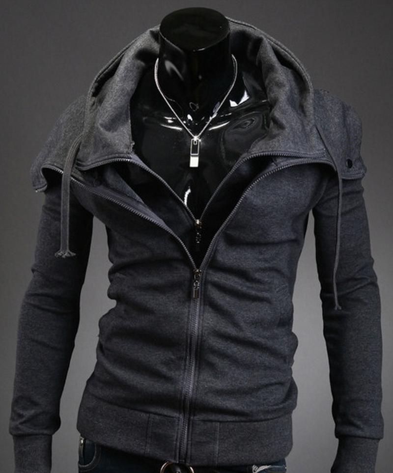 جاكيتات رجالية زوجا 2021 أزياء الخريف مقنعين معطف الرجال عارضة سترة سترة سترة زائد الحجم S-3XL سستة شارع رجل والمعاطف
