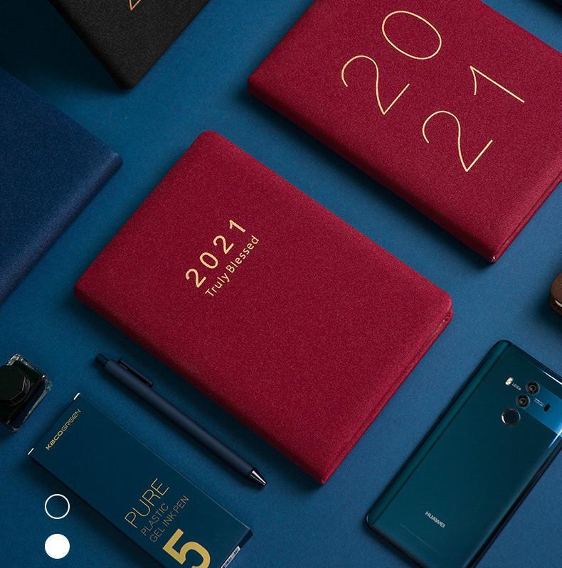 365 Tage täglich monatlich Planer Notebook 2021 Schulbüro 2021 Agenda Planer Organizer Notebook Kreativer Schreibwarenplan Buch