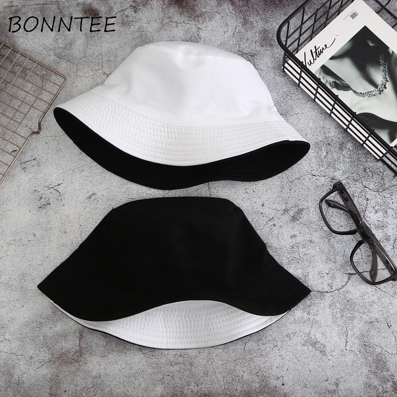 Hats New Simple Summer All-match Hat Women European Style Solid Double-sided Chic Womens Fashionable Couple Casual Daily Trendy
