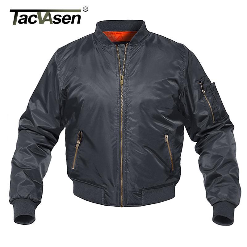 Tacvasen зимняя куртка пальто мужчины военный стиль бомбардировщики куртки хлопчатобумажные моды повседневные бейсбольные куртки варсистого пальто на пальто 201127