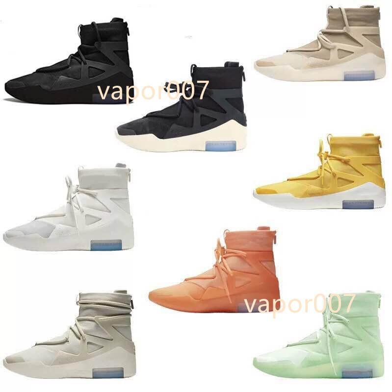 2021 탑 고품질 남성 여성 하나님의 두려움 하나님의 가벼운 뼈 검은 흰색 운동화 안개 쿠션 부츠 스포츠 줌 캐주얼 신발