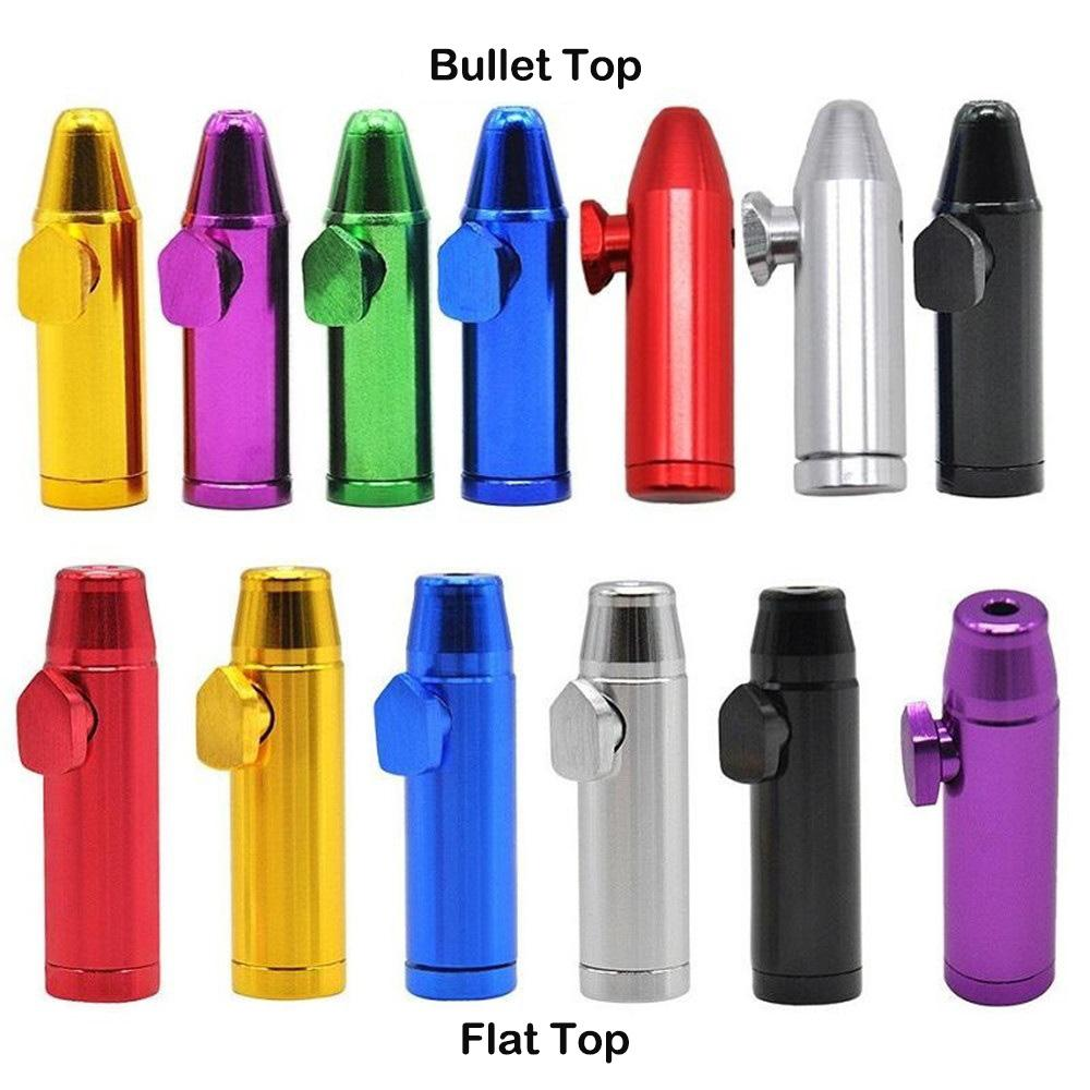 Rocket Bullet en forme Tabatière Ronfler Sniff Distributeur 53mm Hauteur Aluminium Métal nasal Endurable pour le tabac cigarette