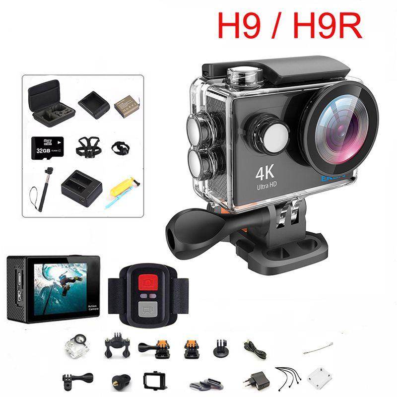 "Original H9   H9R Action Camera Ultra HD 4K   30fps WiFi 2.0"" 170D Underwater Waterproof Cam Helmet Vedio Sport pro Cam"