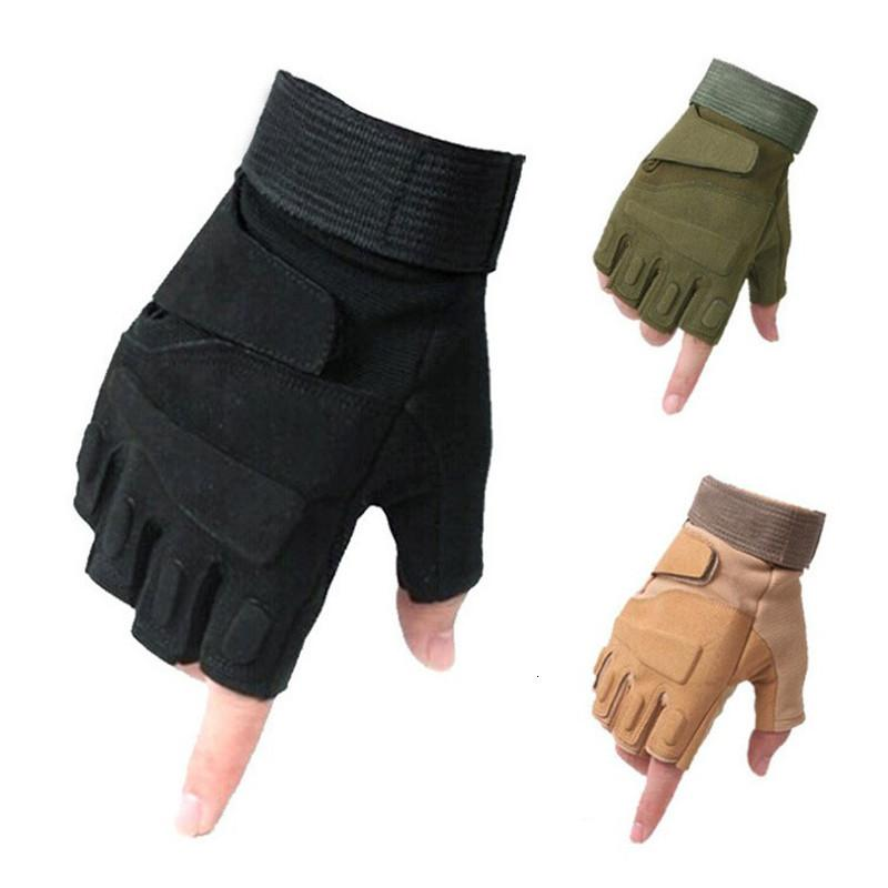 Tactical Fingerless Мужчины Anti-Skid Half Finger Combat Gloves Стрельба Рукавицы Мужской SWAT Fightin