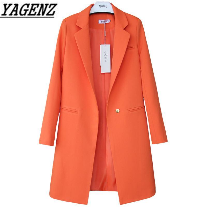 Branco Preto Mulheres Blazers e jaquetas Plus Size Primavera Outono Sólidos Feminino ternos elegantes mulheres longas Blazer Casual Tops 3XL 201007