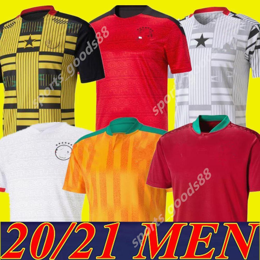 2020 2021 Egito M.Salah 10 Salah Marfim Costa Gana Marrocos Futebol Jerseys 20 21 Home Away Jersey Football Shirts