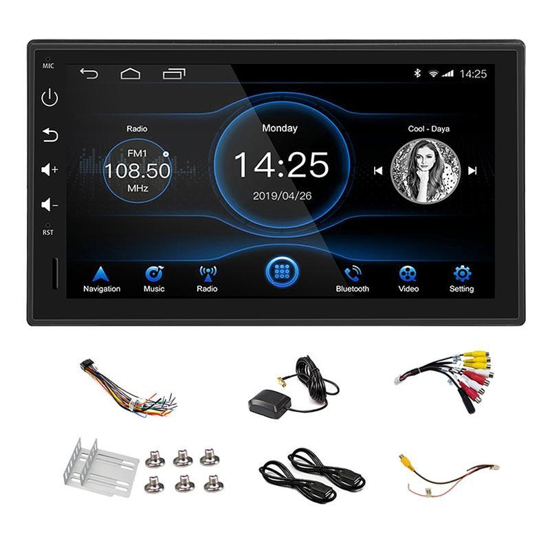 1Din 7 Inch Android 8.1 Eight Core Car Stereo Radio Capacitive Press Screen 4G+ 32G GPS Navigation Bluetooth USB SD Player car dvd