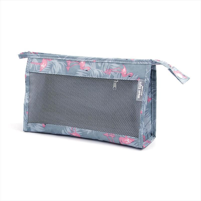 Сумка для туалетной принадлежности видимый нейлон красота косметическая сумка сумка тщеславие путешествия женские профессиональные условия необходимости путешествия сетки fbqfa